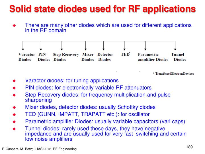 Solid state diodes used for