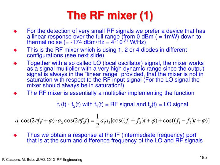 The RF mixer (1)