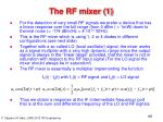 the rf mixer 1