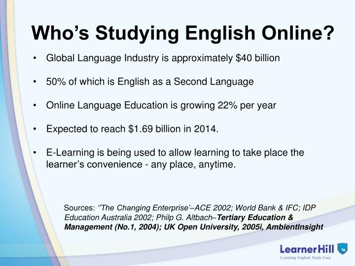 Who's Studying English Online?