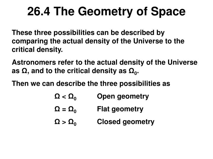 26.4 The Geometry of Space