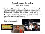 grandparent paradox time travel paradox