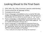 looking ahead to the final exam