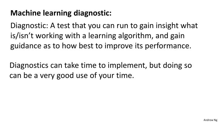 Machine learning diagnostic: