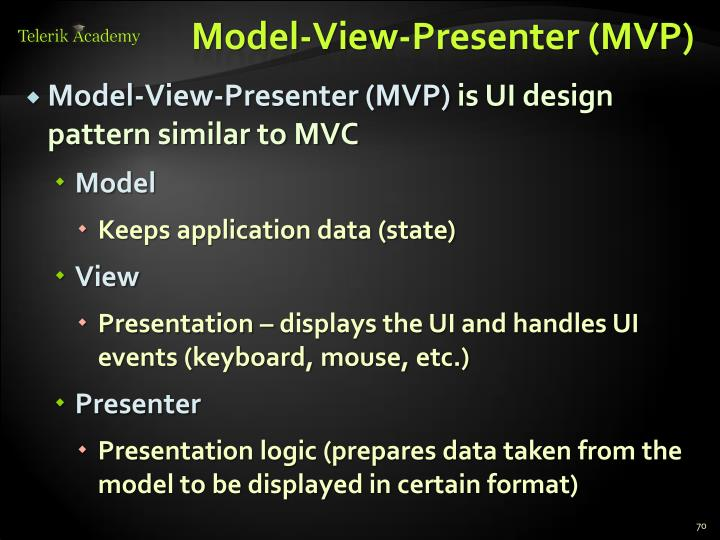 Model-View-Presenter (MVP)