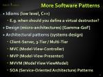 more software patterns