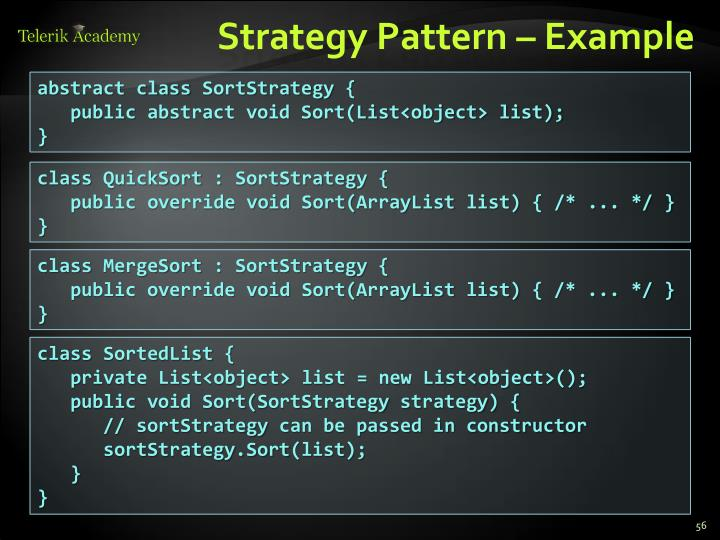 Strategy Pattern – Example