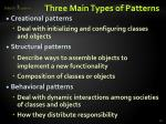 three main types of patterns