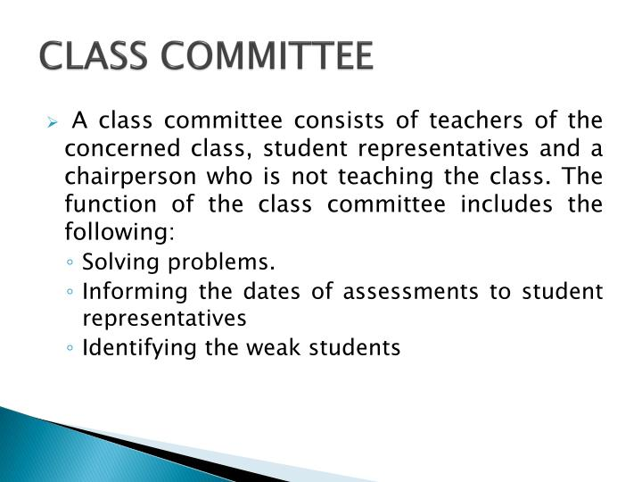 CLASS COMMITTEE