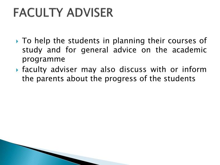 Faculty adviser
