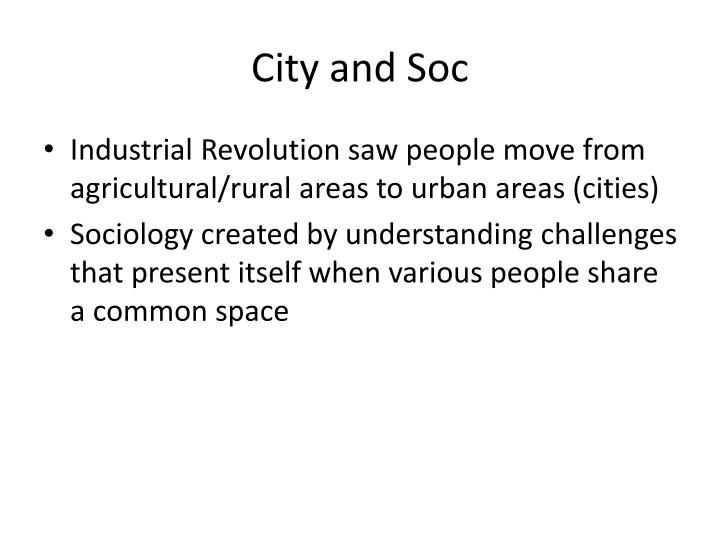 City and Soc