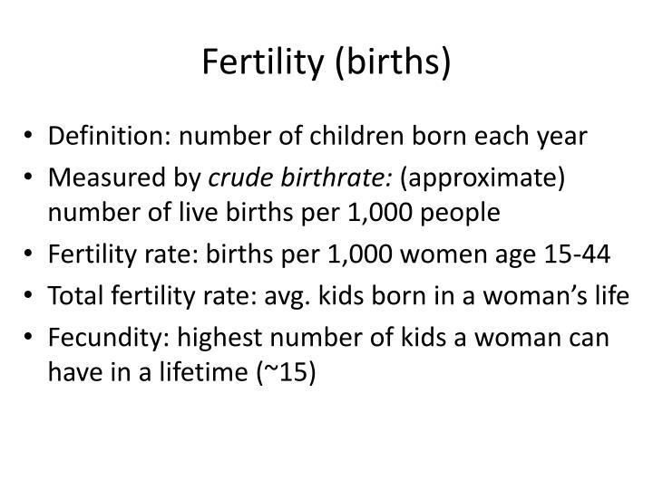 Fertility (births)