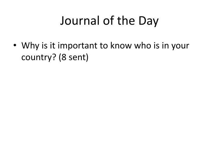 Journal of the day