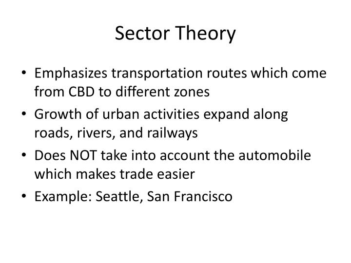 Sector Theory