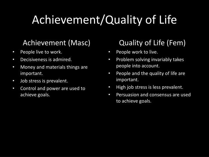 Achievement/Quality of Life