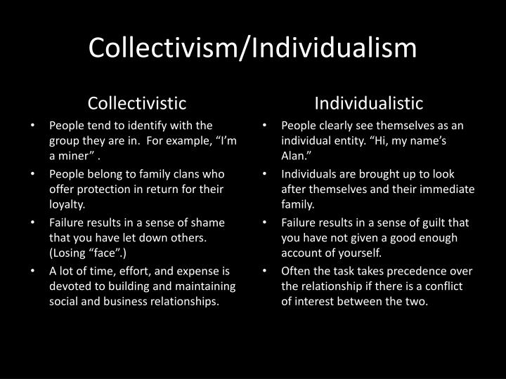 Collectivism/Individualism