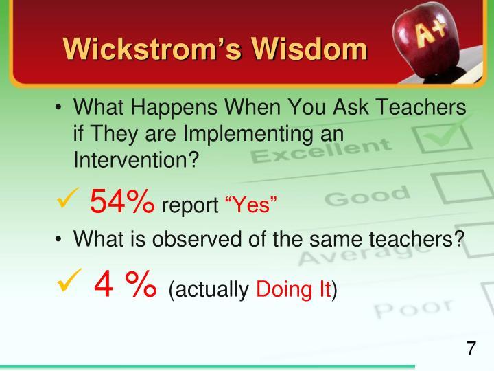 Wickstrom's