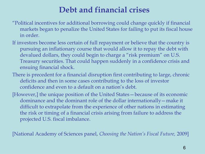 Debt and financial crises