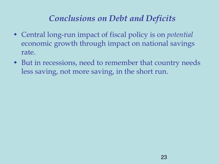 Conclusions on Debt