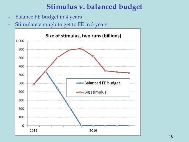 Stimulus v. balanced budget