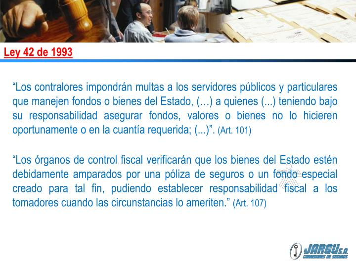 Ley 42 de 1993