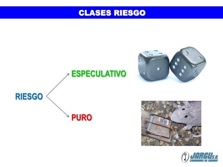 CLASES RIESGO