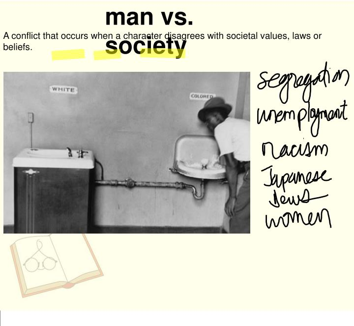 man vs. society