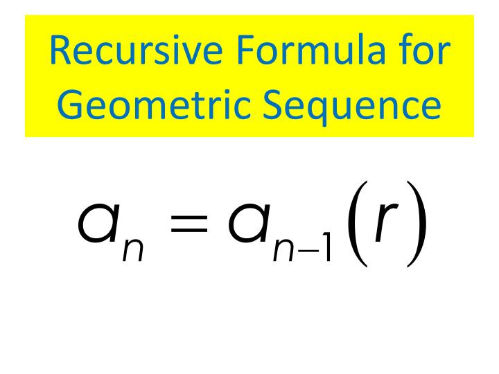 ppt arithmetic and geometric sequence formula review