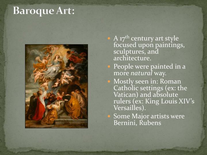 Baroque Art: