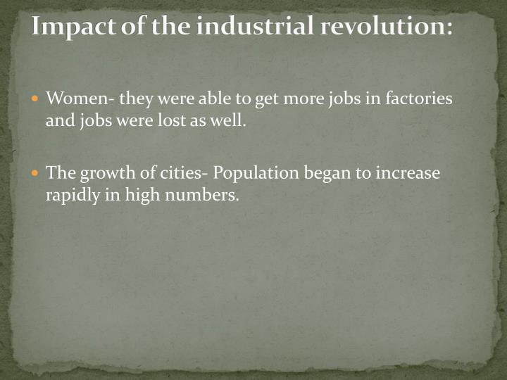 Impact of the industrial revolution: