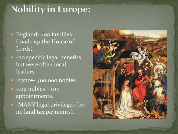 Nobility in Europe: