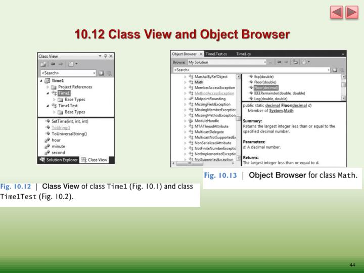 10.12 Class View and Object Browser