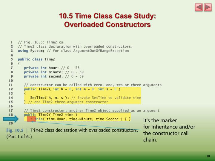 10.5 Time Class Case Study: