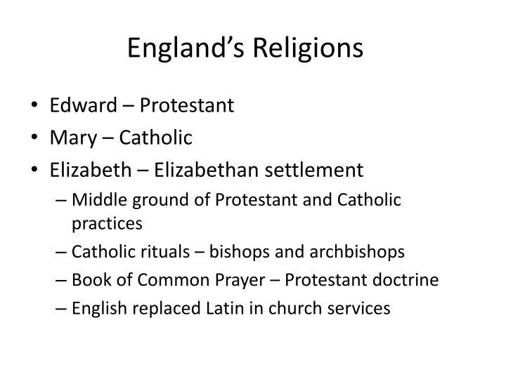 England's Religions