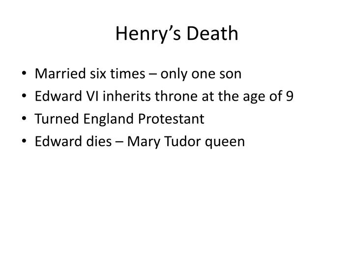 Henry's Death