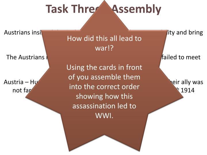 Task Three - Assembly