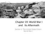 chapter 19 world war i and its aftermath