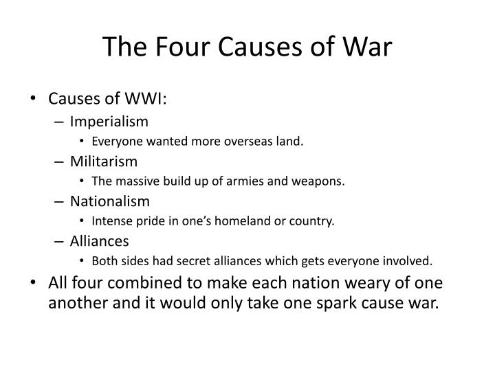 The Four Causes of War