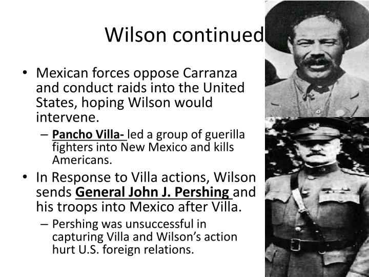 Wilson continued