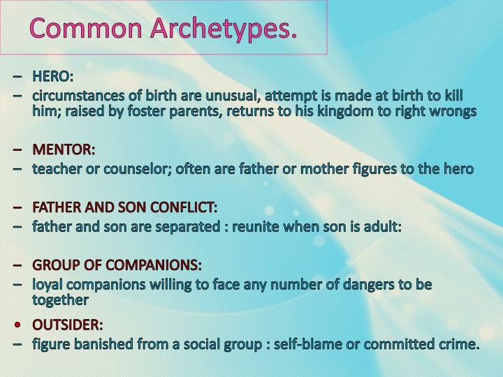 Common Archetypes.