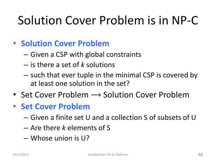 Solution Cover Problem is in NP-C