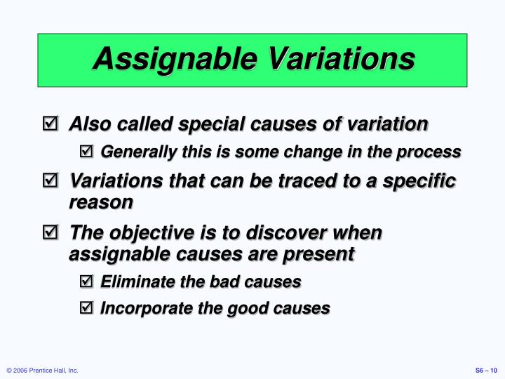 Assignable Variations