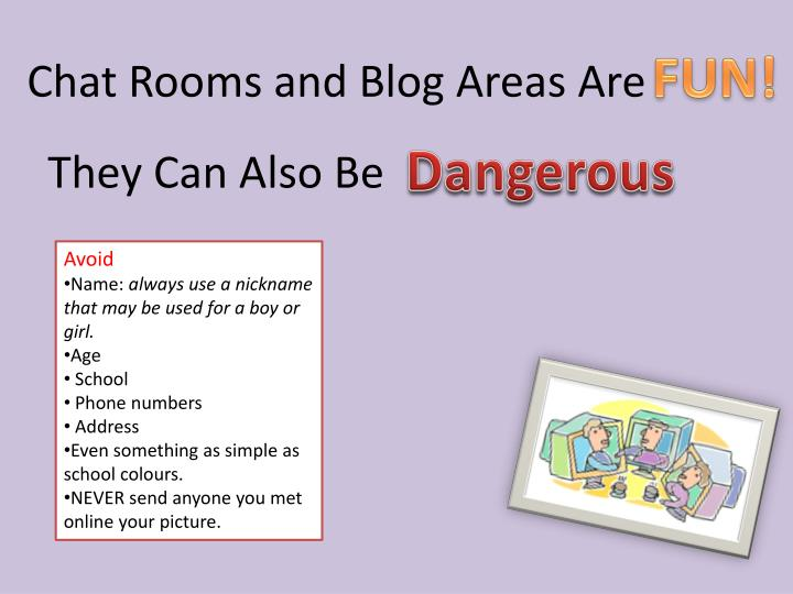 Chat Rooms and Blog Areas