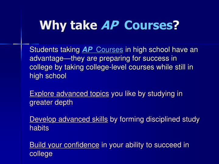 Why take ap courses
