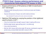 fy2015 goal assess antenna performance and characterize field aligned fw losses in sol