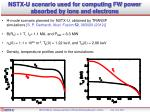 nstx u scenario used for computing fw power absorbed by ions and electrons