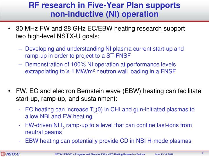 RF research in Five-Year Plan supports