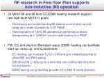 rf research in five year plan supports non inductive ni operation