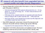 rf research will also benefit from upgraded fast ion current profile and edge density diagnostics