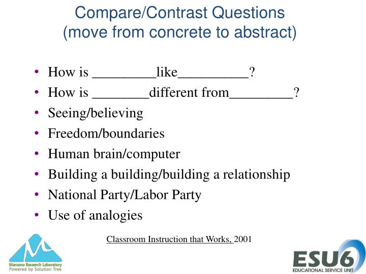 Compare/Contrast Questions